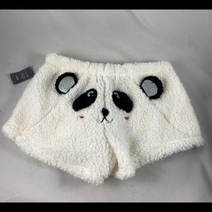 MD PJ Couture fluffy panda short shorts